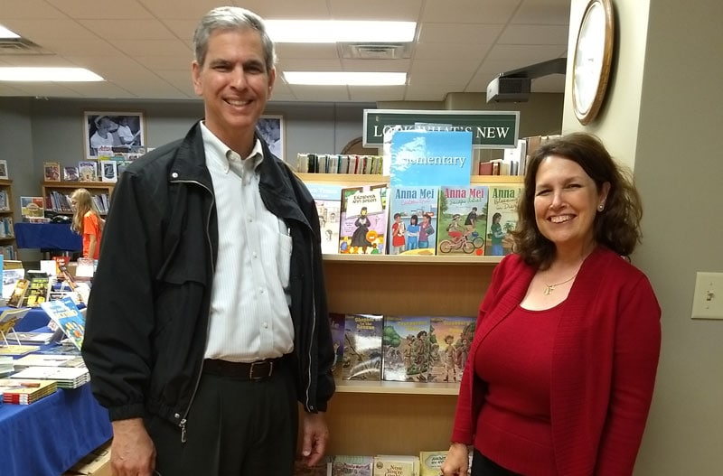 Liz and Adolfo Lantigua - Good News Book Fair owners